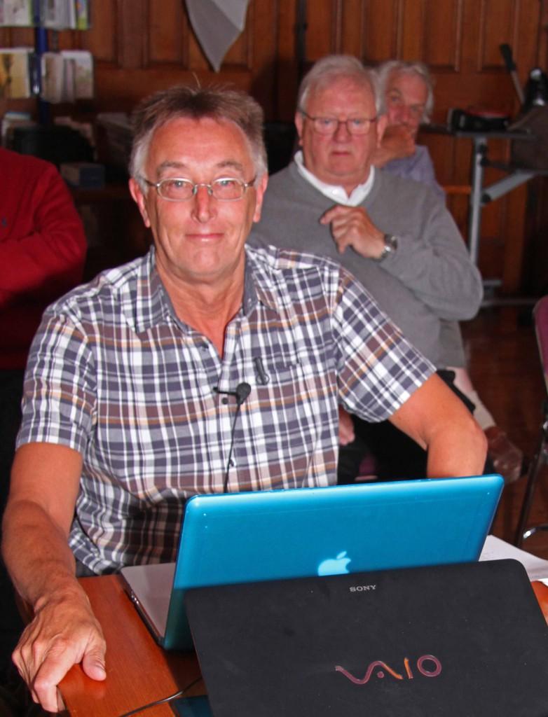 2 - Roger at computer